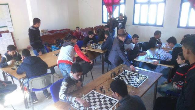 ثانوية الحاج الحضري بشفشاون تنظم بطولة الشطرنج في نسختها الأولى