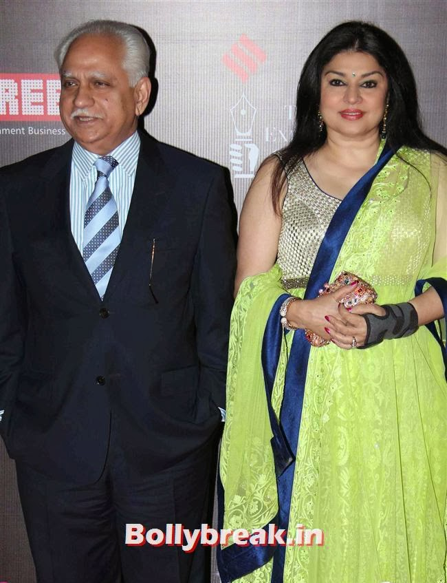 Ramesh Sippy and Kiran Juneja, Bollywood Wags at Screen Awards 2014