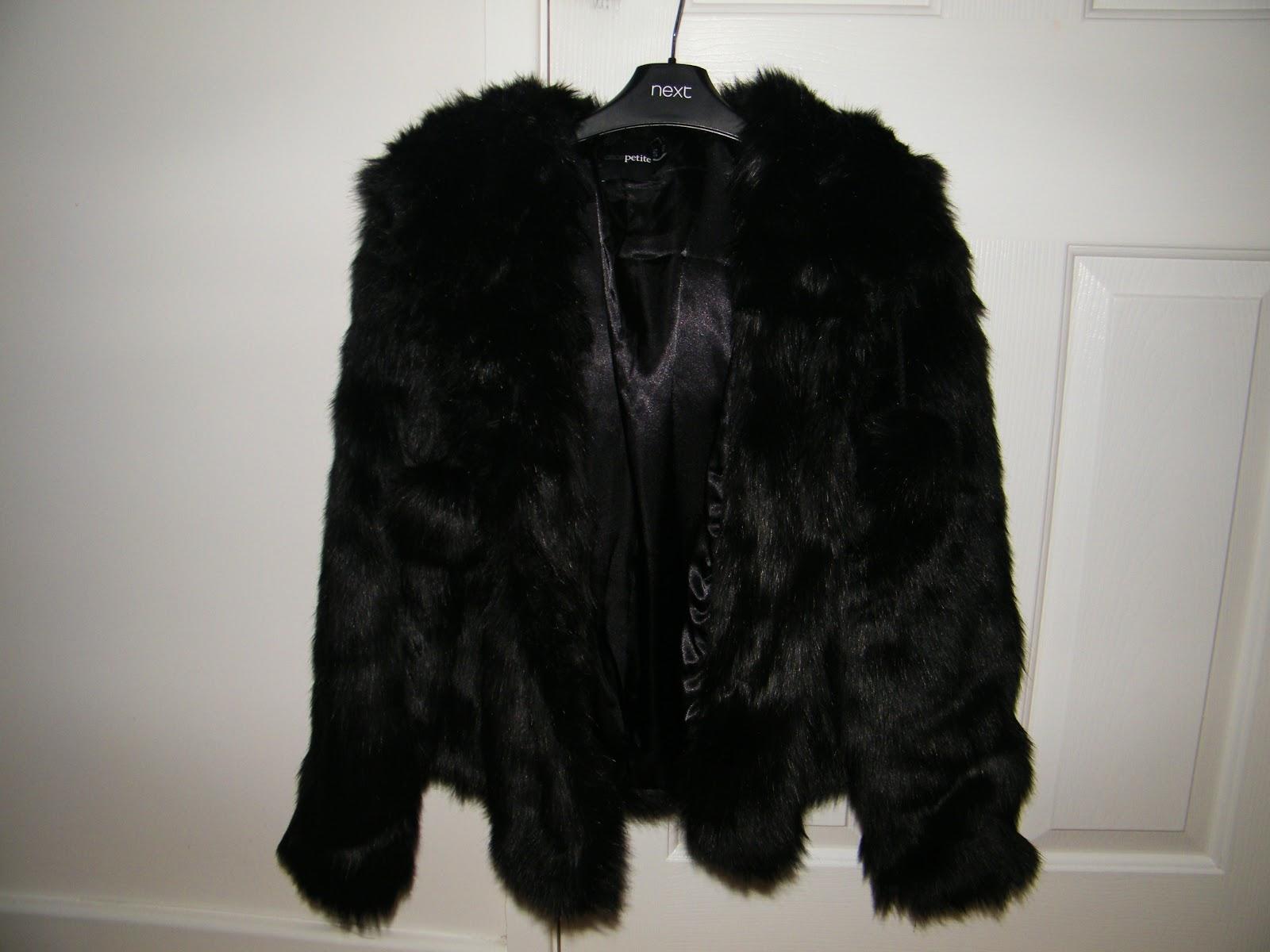 ASOS Black Fur Coat