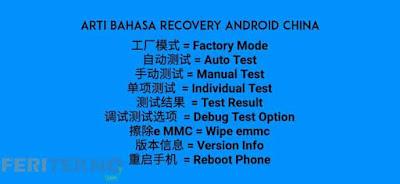 arti bahasa china dari fitur recovery mode