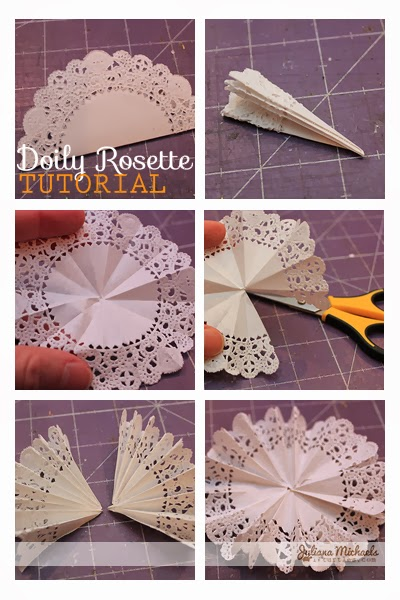 Doily Rosettes Tutorial by Juliana Michaels