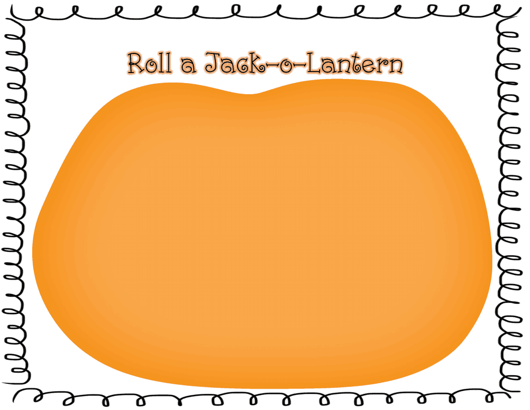 Sprinkles To Kindergarten Roll A Jack O Lantern Freebie