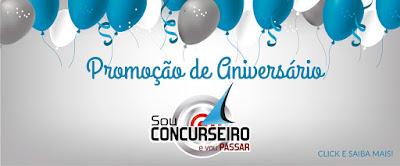 ANIVERSÁRIO DO SOU CONCURSEIRO E VOU PASSAR