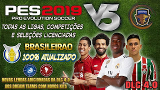 PES 2019 PS4 Option File EQ Version 5 by Emerson Pereira