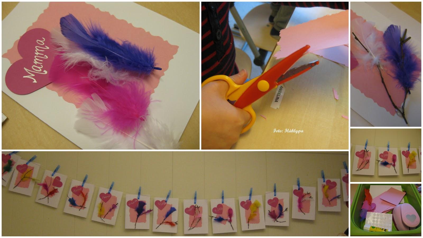Farsdagskort laget av barn