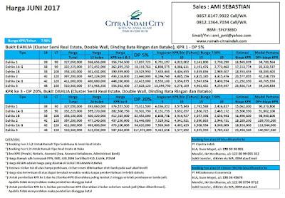 Harga Bukit Dahlia Citra Indah City JUNI 2017
