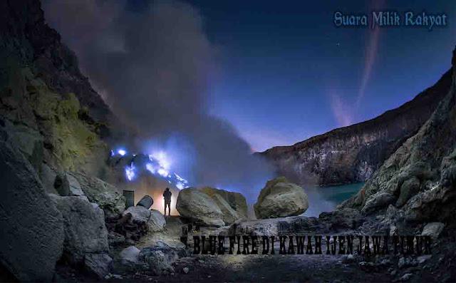 Blue Fire di Kawah Ijen Jawa Timur