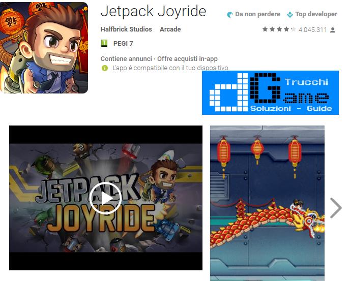 Trucchi Jetpack Joyride Mod Apk Android v1.9.20