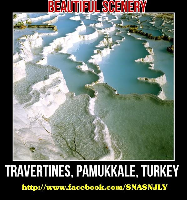 Travertines, Pamukkale, Turkey,Beautiful scenery