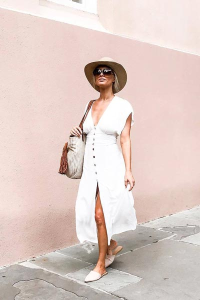 17 Fresh Fall Fashion Outfits To Update Your Closet In 2018 | Midi Dress in White