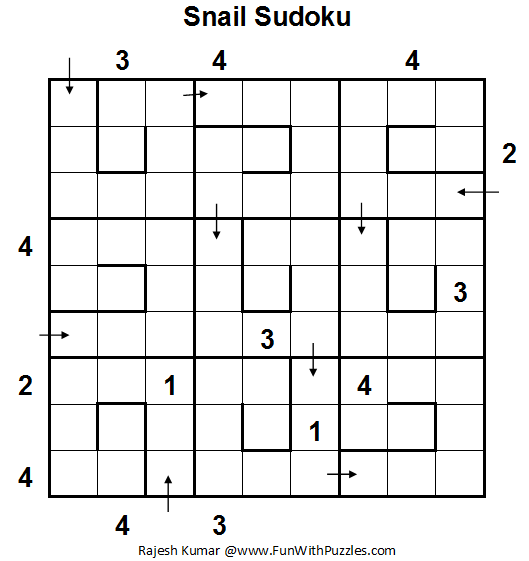 Snail Sudoku (Daily Sudoku League #74)