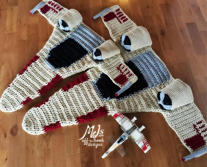Star Wars Fighter Blanket Crochet Pattern