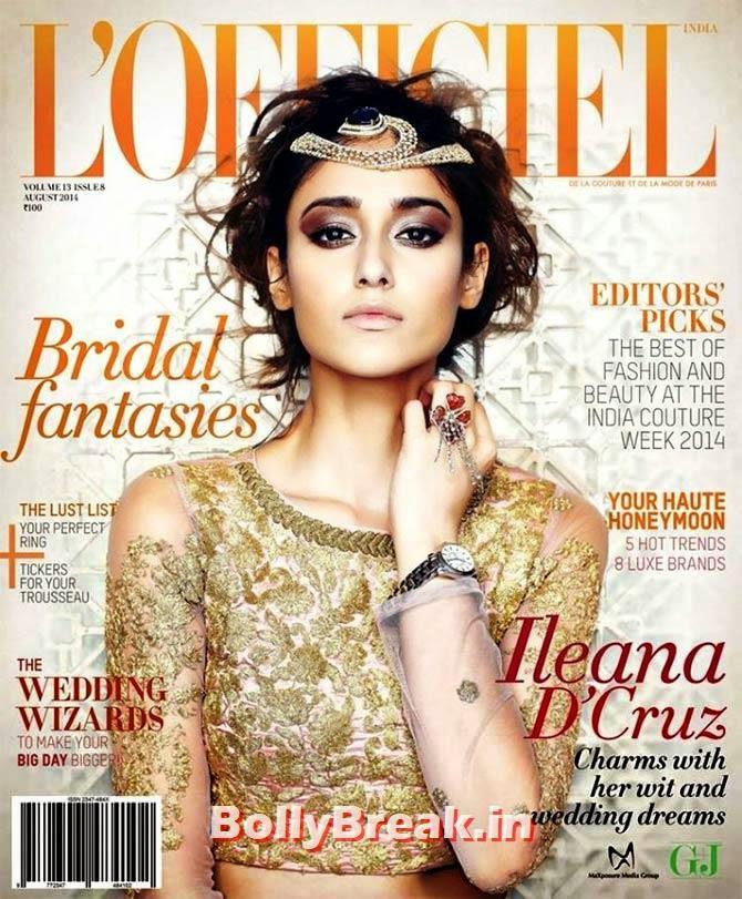 Ileana D'cruz, August 2014 Indian Magazine Covers