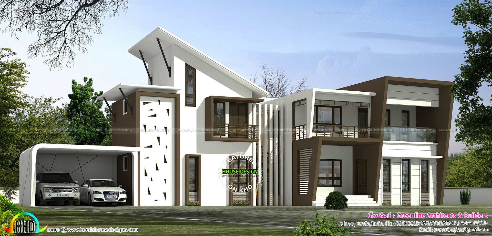 4 Bedroom Ultra Modern Home Plan Kerala Home Design And