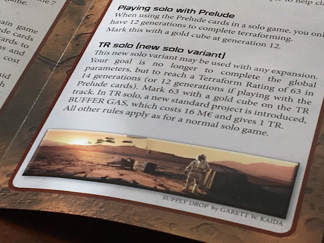 New solo rules with the Terraforming Mars Prelude expansion.