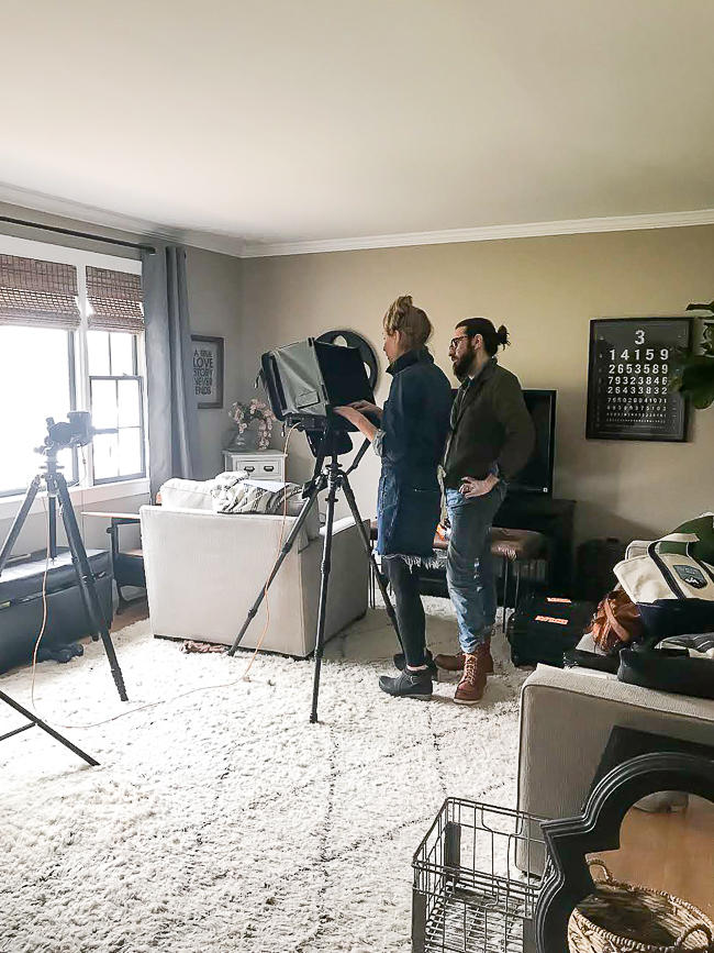 Behind the scenes of Better Homes and Gardens photo shoot