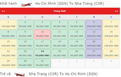Vé máy bay Sài Gòn đi Nha Trang giá rẻ tháng 10