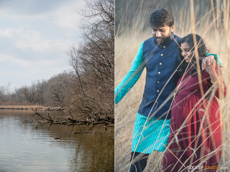 Indian Maternity Photography Outdoors by SudeepStudio.com Ann Arbor Maternity Portrait Photographer