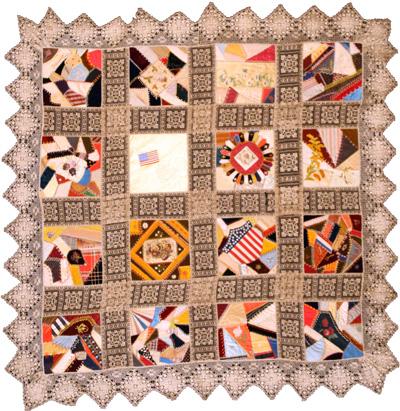 Civil War Quilts Civil War Commemorative Crazy Quilt