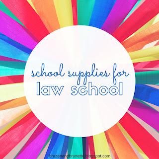 school supplies for law school | brazenandbrunette.com