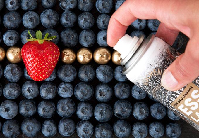 Spray comestible para decorar banquetes