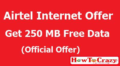 Airtel-data-offer-250-mb-free