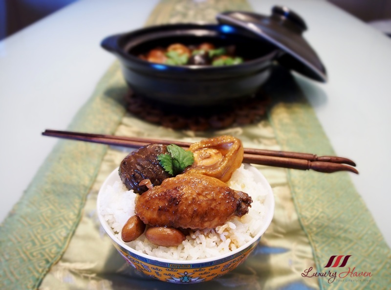 one pot meal braised chicken with abalone mushrooms