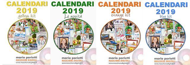 Le copertine dei calendari 2019