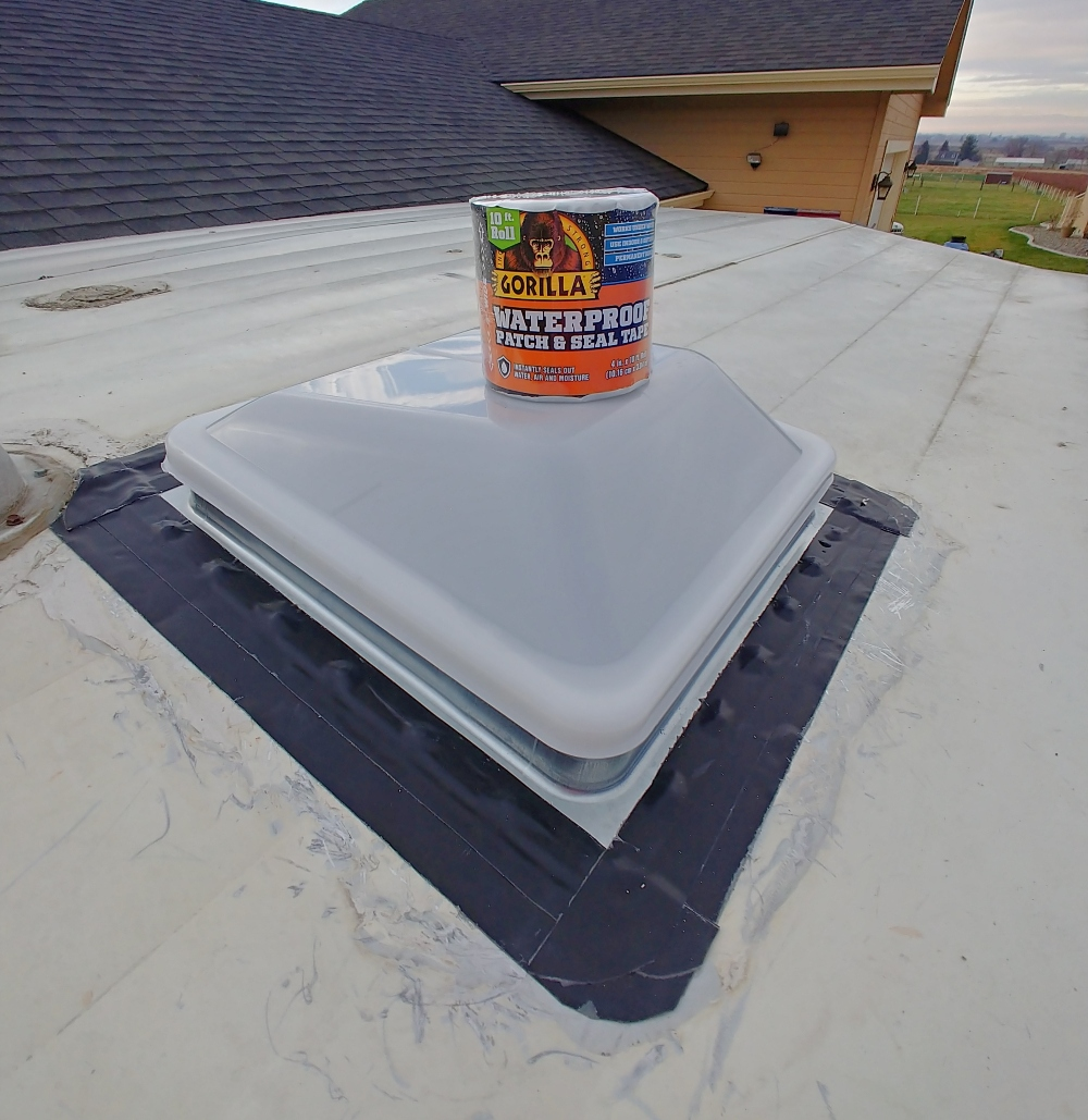 roof vents with Gorilla Glue