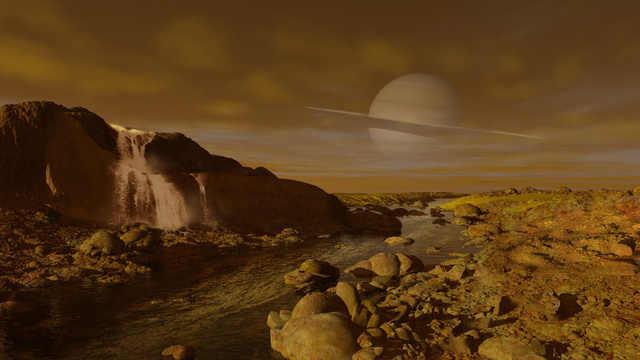 Resultado de imagen de Imágenes de los ríos de la luna  Titan