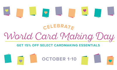 Stampin' Up! World Card Making Day Specials! Shop with Kay Kalthoff at Stamping to Share.