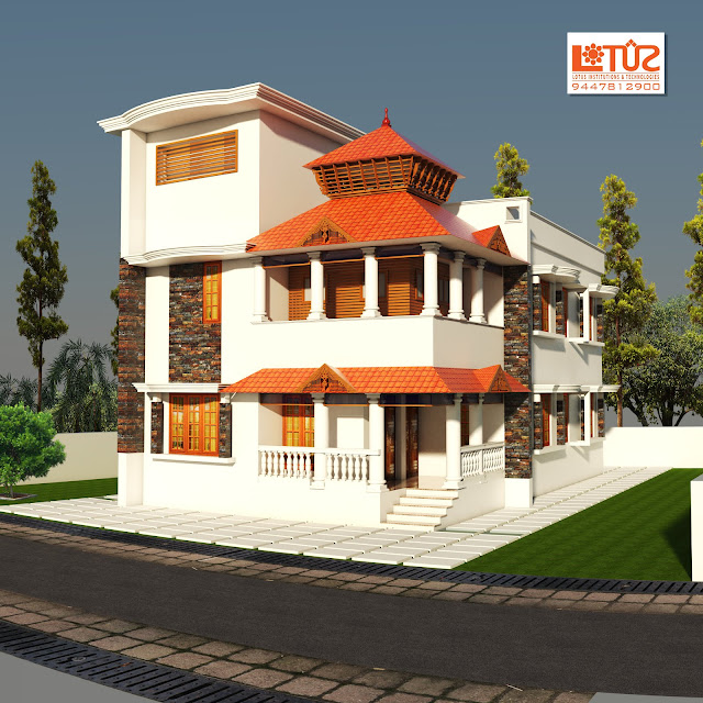 Fussion Home Design of 2120 Sqft