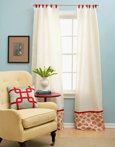 coastal curtains DIY idea