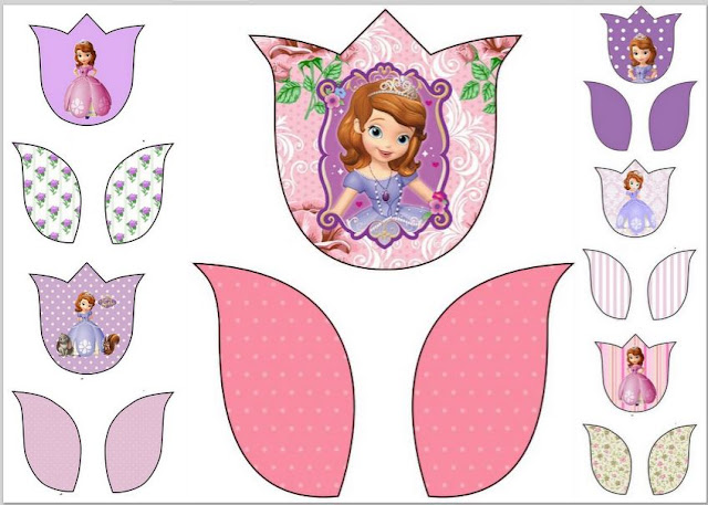 Sofia the First: Free Printable Tulip Cards.