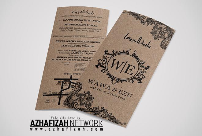 Design Kad Kahwin Simple Tapi Menarik Blog Sihatimerahjambu