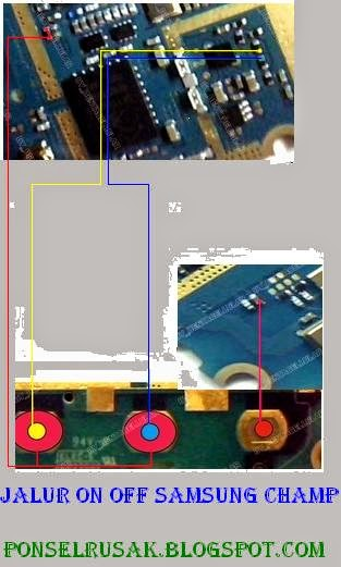Picture of how a jumper line on off samsung c3303