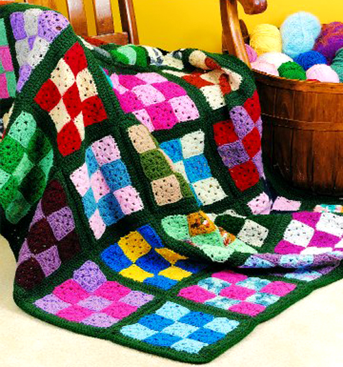 Nine-Patch Afghan - Free Pattern