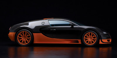 Bugatti Veyron black orange side image