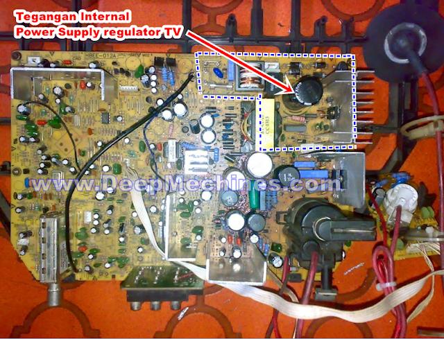 Perbaikan Kerusakan di Blok Tegangan Internal Power Supply TV
