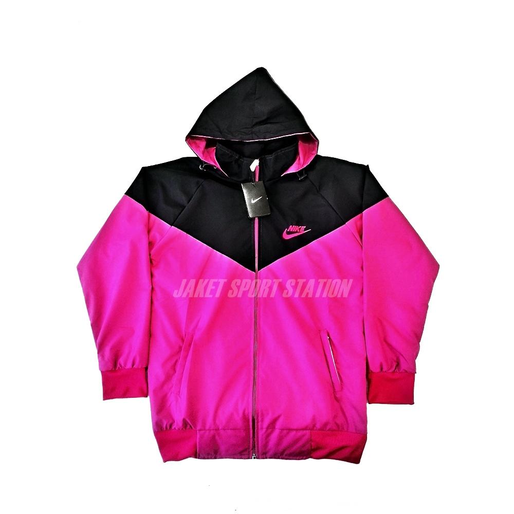 Jaket Parasut Nike Kaskus Wanita Hitam Pink