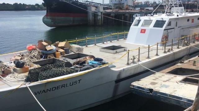 Sabu 1 Ton Diangkut Kapal Pesiar yang Telah Dimodifikasi