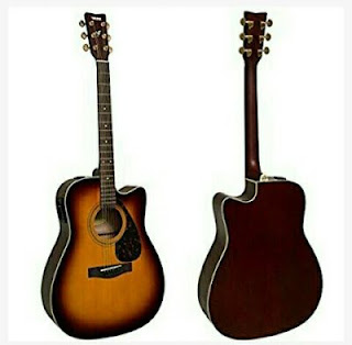 Yamaha Acoustic-Electric Guitar with Cutaway Dreadnought Design