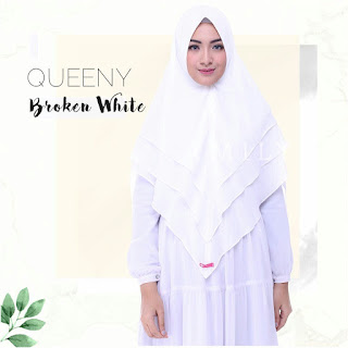 HIjab Amily Khimar Queeny Broken White