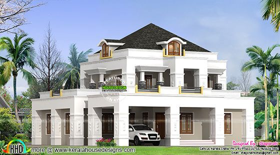 Colonial model 4 bedroom house