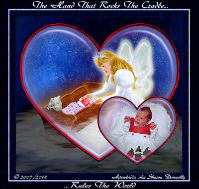 The Hand That Rocks The Cradle by/copyrighted to Artsieladie/Sharon Donnelly