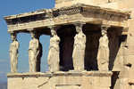 Tribuna de las Cariátides, en el Erecteion de la Acrópolis de Atenas