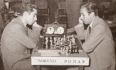 Partida Pomar-Moreno en el Torneo de Ajedrez de Tarragona 1951