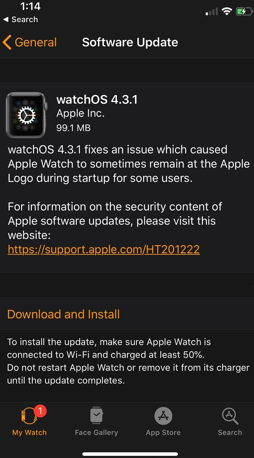 watchOS 4.3.1 Features Changelog