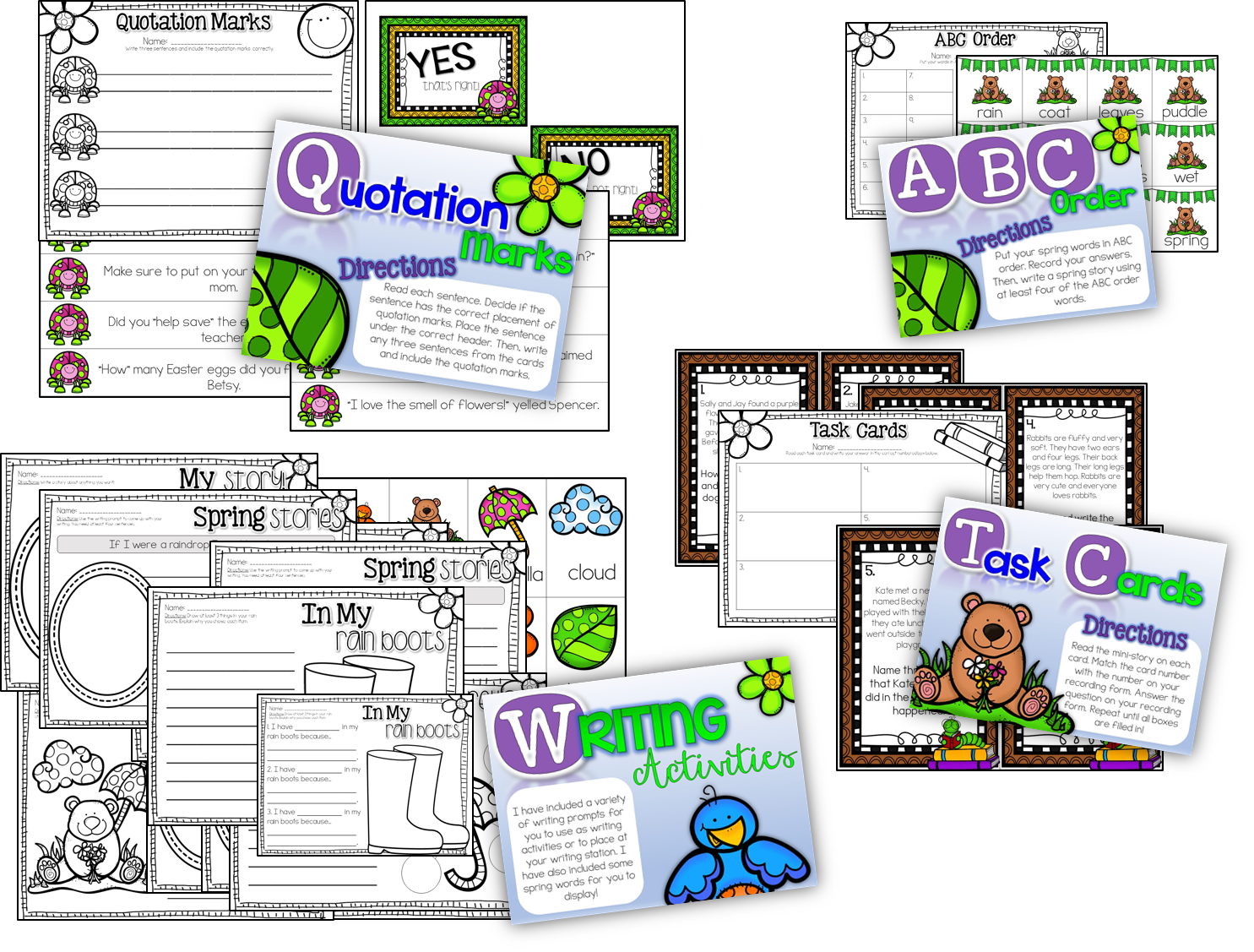 http://www.teacherspayteachers.com/Product/Spring-Literacy-Stations-10-Stations-1213856
