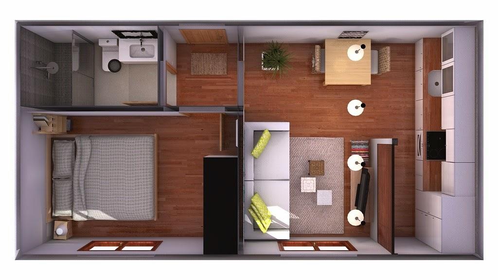Recopilaci n de planos de casa peque as mis minipisos for Decoracion de viviendas pequenas